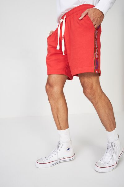 Volley Jogger Short, RED/LCN COCA COLA