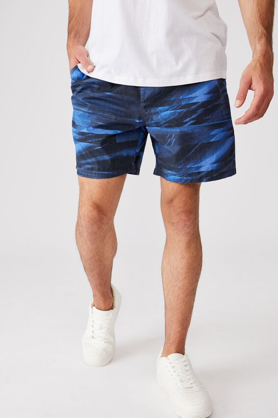 Kahuna Short, BLUE / BLACK GLITCH