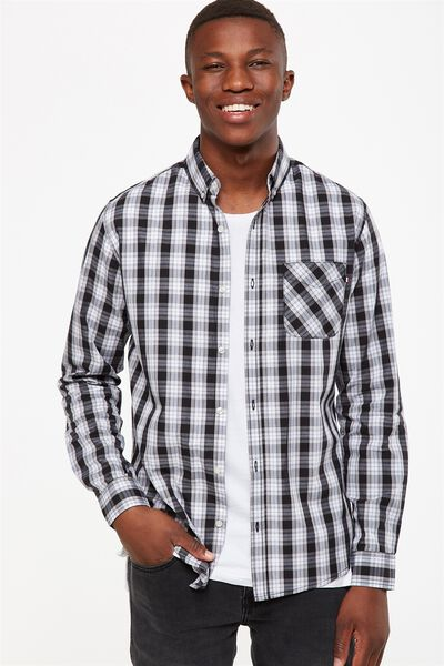 Brunswick Shirt 3, BLACK WHITE CHECK