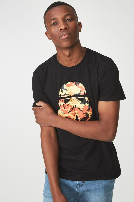 Tbar Collaboration Tee, LC BLACK/YELLOW CAMO/STORM HEAD