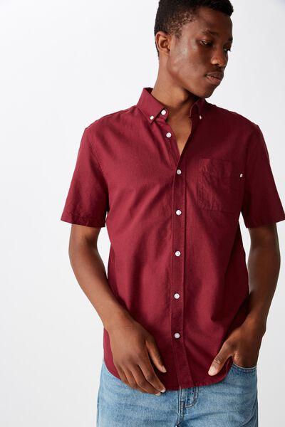 Vintage Prep Short Sleeve Shirt, BURG OXFORD