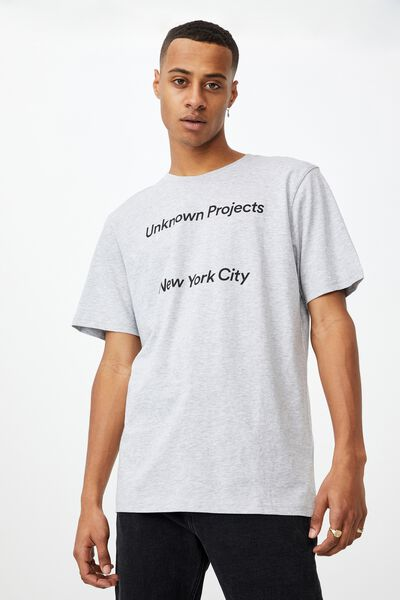 Tbar Street T-Shirt, LIGHT GREY MARLE/UNKNOWN PROJECTS SPACED