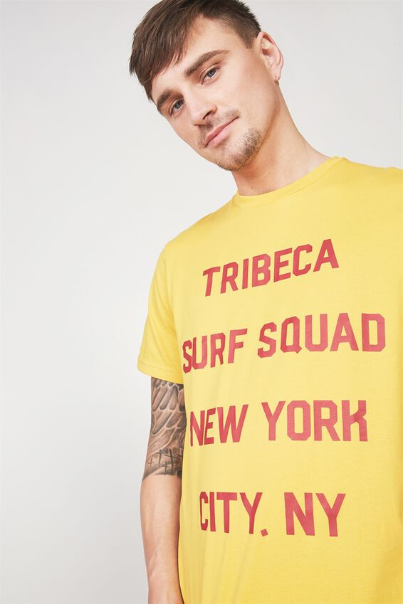 Tbar Tee 2, GOLDEN ROD/TRIBECA SURF SQUAD