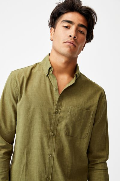 Brunswick Shirt 3, TEXTURED KHAKI