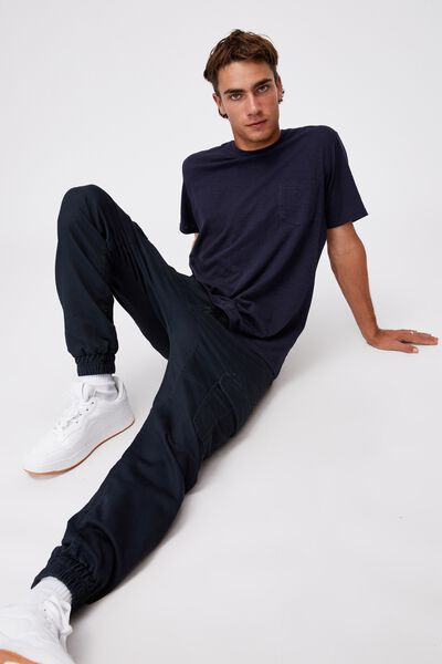 Knit Cargo Jogger, WASHED NAVY