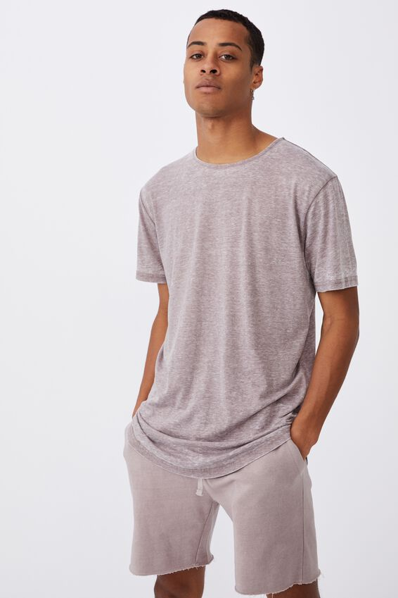 Longline Scoop Burnout Tee, MUSK