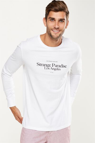 Tbar Long Sleeve, WHITE/STRANGE PARADISE