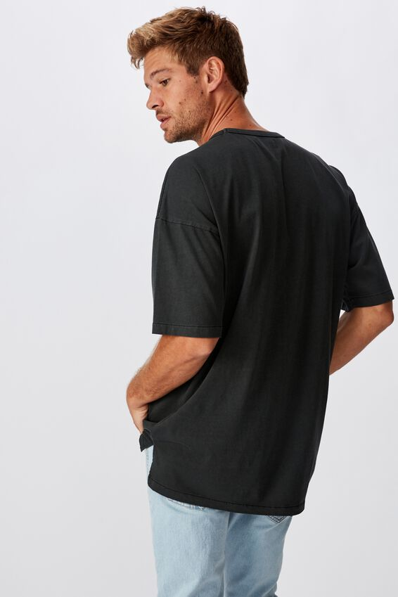 Oversized Droptail Tee, WASHED BLACK