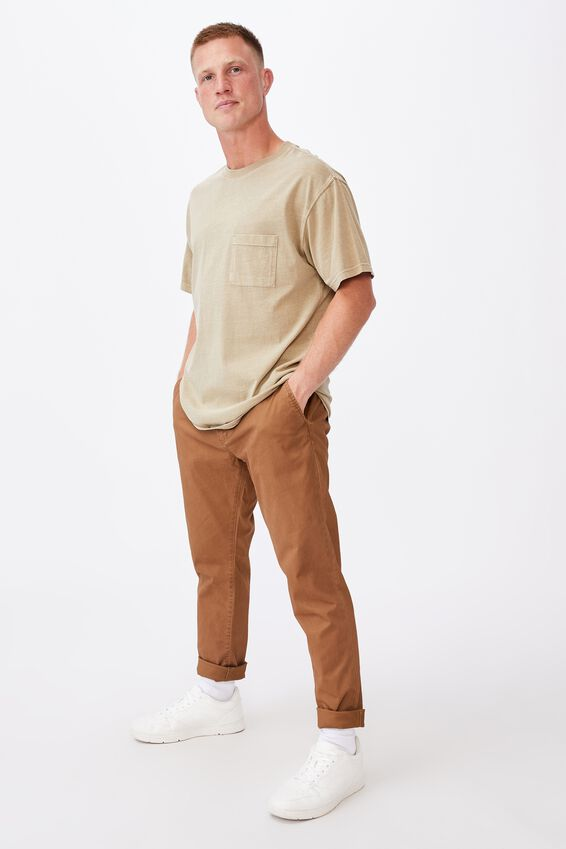 Skinny Stretch Chino, WASHED BISCUIT