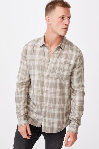 Premium Check Shirt, SAND ECRU CHECK