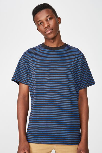 Dylan Tee, BLACK/BLUE DELIGHT/DACHSHUND BROWN STRIPE