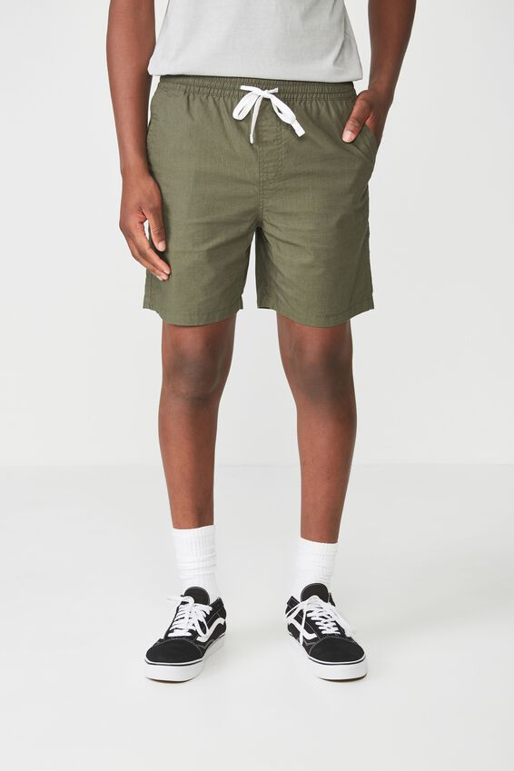 Easy Short, OLIVE/TEXTURE