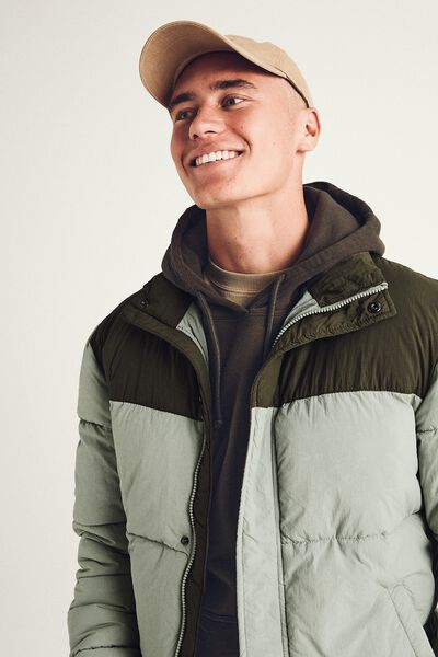 Essential Recycled Puffer, SAGE OLIVE