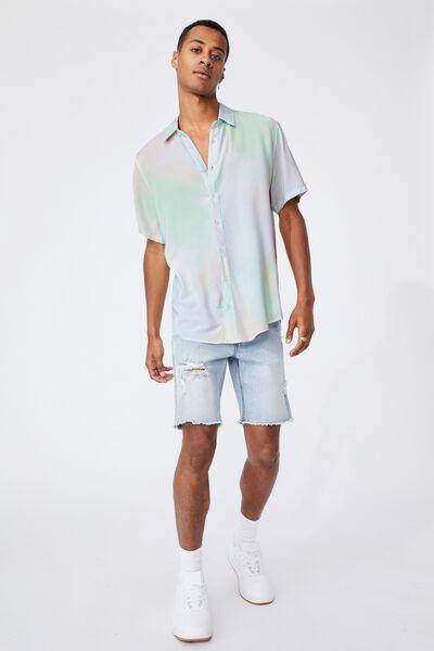 Short Sleeve Collab Shirt, PLASMA POP TIE DYE