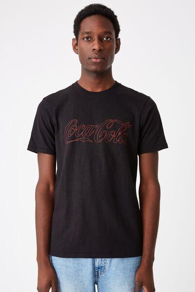 Tbar Collab Pop Culture T-Shirt, LCN CC BLACK SLUB/COKE - OUTLINE LOGO