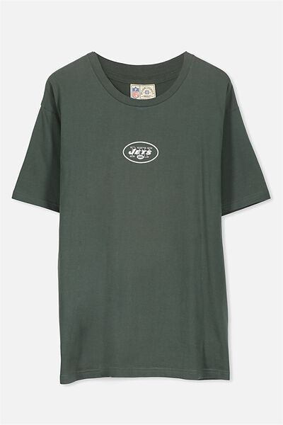 Downtown Loose Fit Tee, LC TREKKING GREEN/NY JETS