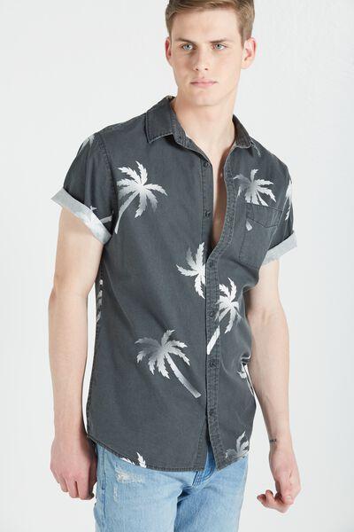 Vintage Prep Short Sleeve Shirt, TROPICAL