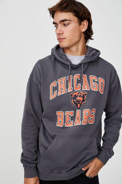 Premium Collab Fleece Pullover, LCN NFL FADED SLATE/CHICAGO BEARS