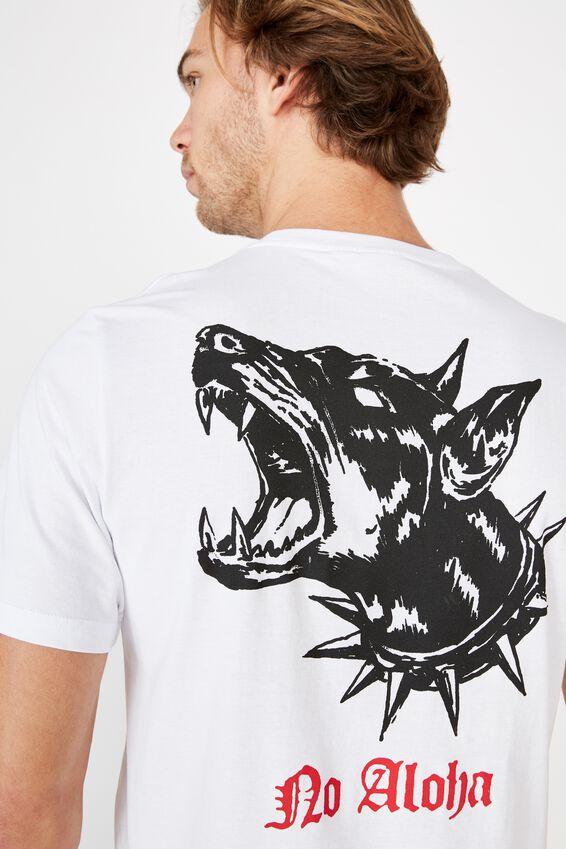 Tbar Art T-Shirt, WHITE/NO ALOHA DOG