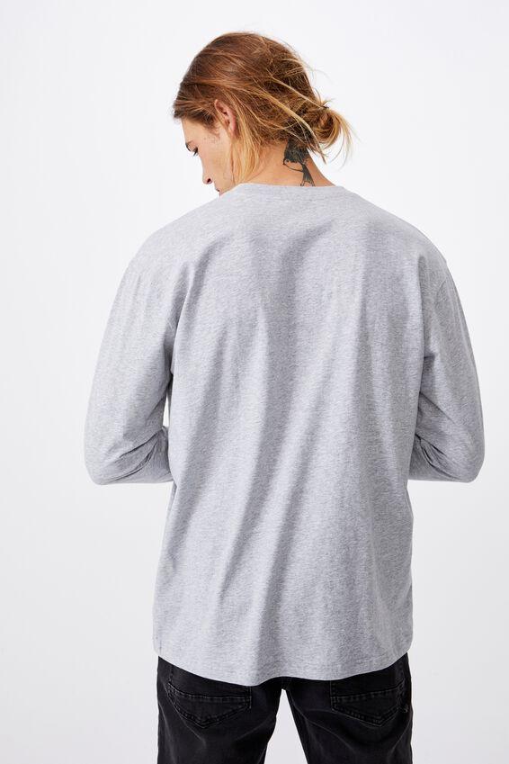 Tbar Long Sleeve T-Shirt, LIGHT GREY MARLE