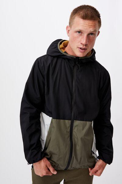 Active Tech Jacket, BLACK/MILITARY/ICE GREY