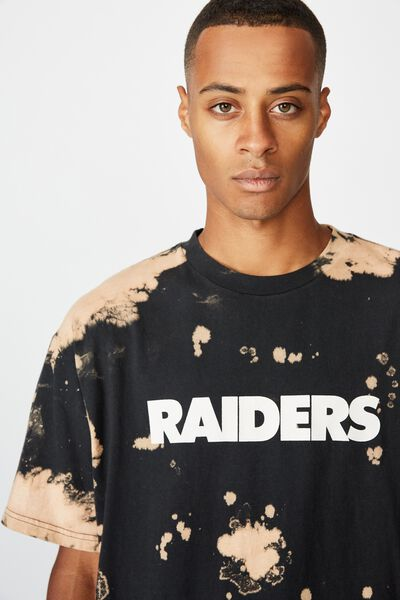 Special Edition Tee, LCN NFL BLACK/OAKLAND RAIDERS - BLEACH SPRAY