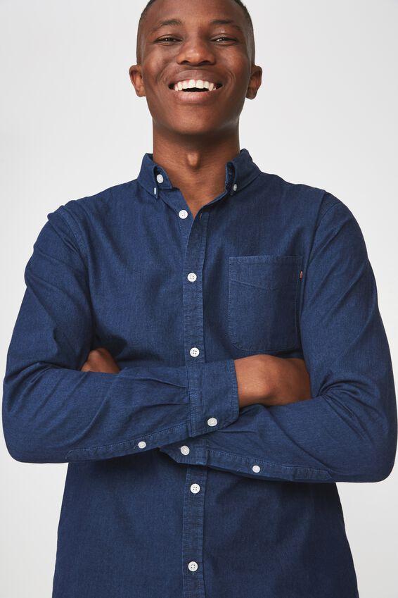 Brunswick Shirt 3, DARK BLUE CHAMBRAY