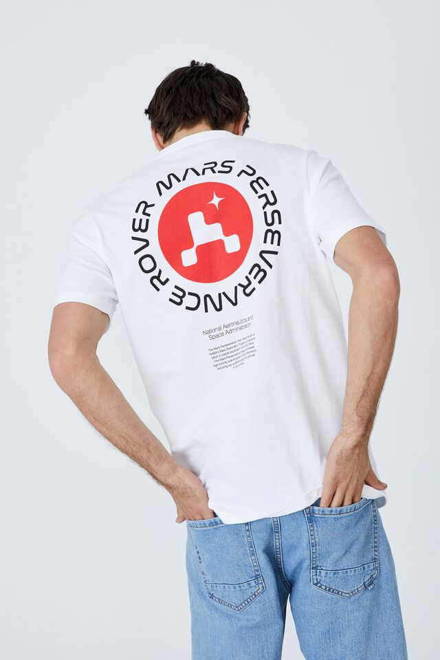 Tbar Collab Pop Culture T-Shirt, LCN NAS WHITE/NASA - MARS
