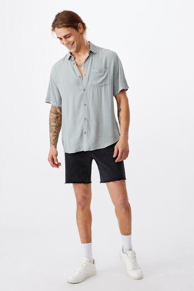 Cuban Short Sleeve Shirt, BLUE HAZE