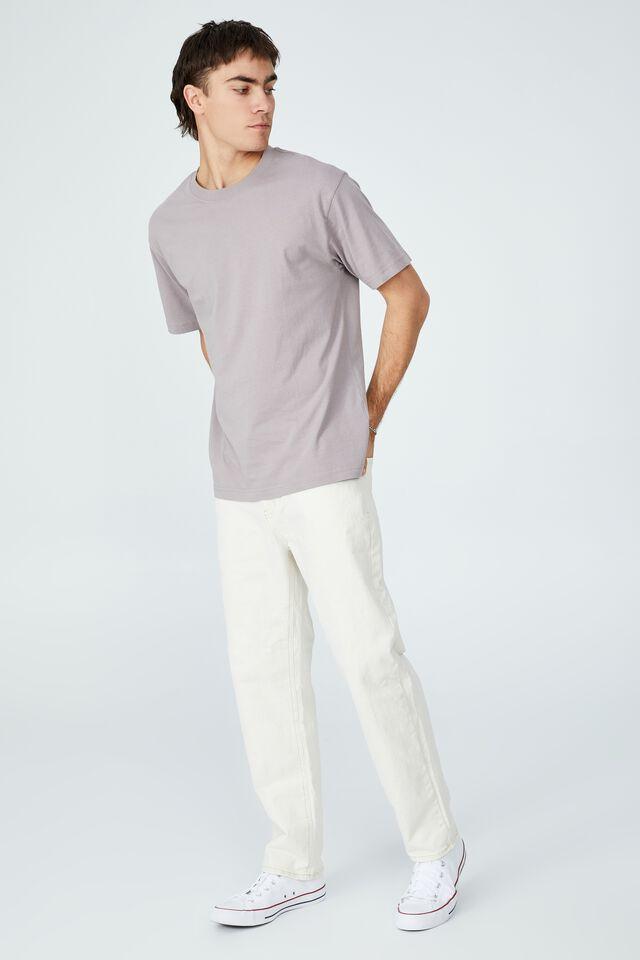 Organic Loose Fit T-Shirt, WASHED BRICK