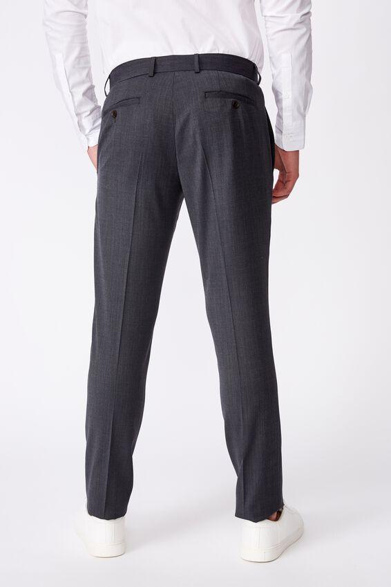 Wool Blend Slim Pant, CHARCOAL