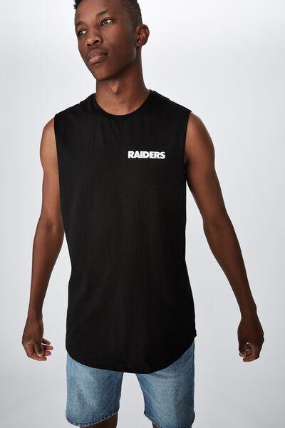 Long Curve Hem Muscle, LCN NFL BLACK/RAIDERS - SHIELD
