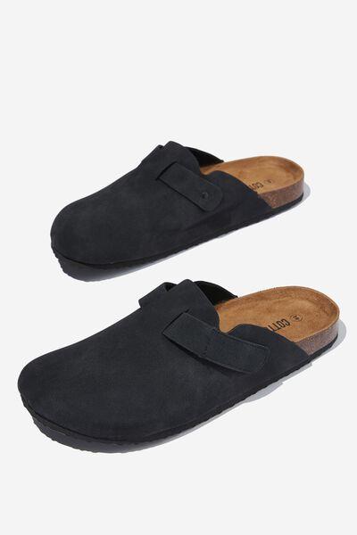 Closed Toe Sandal, BLACK/TEXTURE
