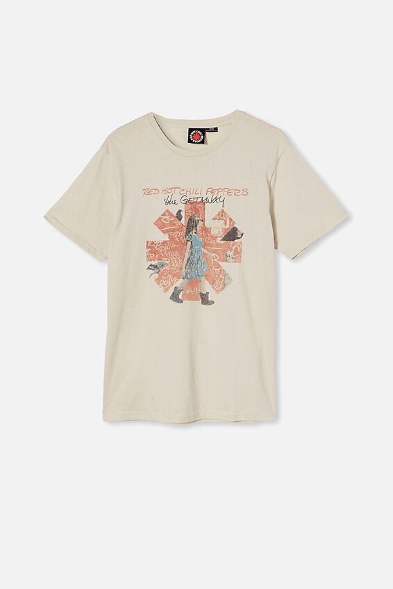 Tbar Collab Music T-Shirt, LCN PRO BONE/RED HOT CHILI PEPPERS-THE GETAWA