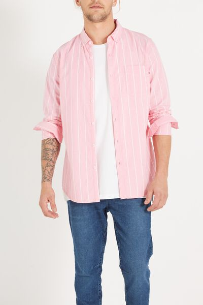 Brunswick Shirt 3, PINK SPACE STRIPE