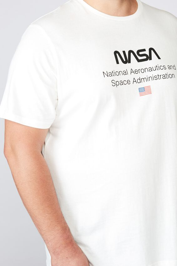 Tbar Collab Tee, LCN NAS VINTAGE WHITE/NASA - LOGO