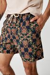 Hoff Short, NAVY / LARGE PAISLEY