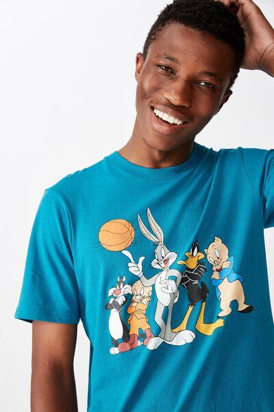 Tbar Collab Movie And Tv T-Shirt, LCN WB SK8 DEEP OCEAN/SPACE JAM - LINEUP