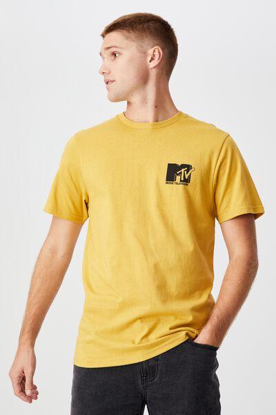 Tbar Collab Pop Culture T-Shirt, LCN MTV BAMBOO YELLOW/MTV - CIRCLE LOGO