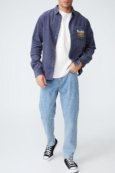 Modelo Long Sleeve Shirt, LCN MOD NAVY CORD