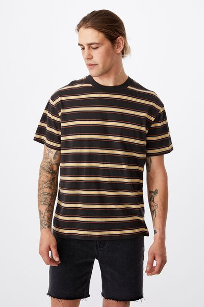 Dylan Tee, WASHED BLACK BUZZ STRIPE