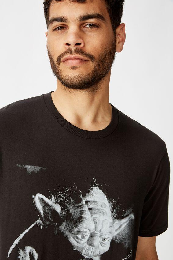 Tbar Collab Star Wars T-Shirt, LCN DIS WASHED BLACK/STAR WARS - THE EMPIRE YODA