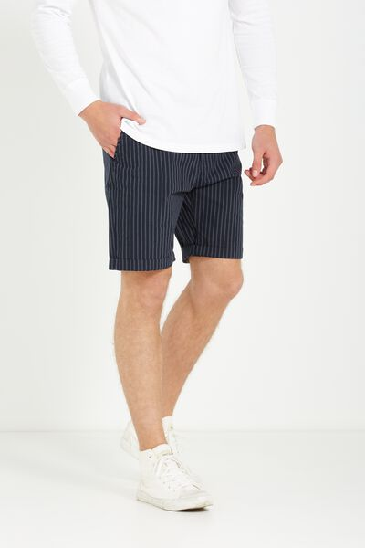 Washed Chino Short, NAVY VERTICAL STRIPE