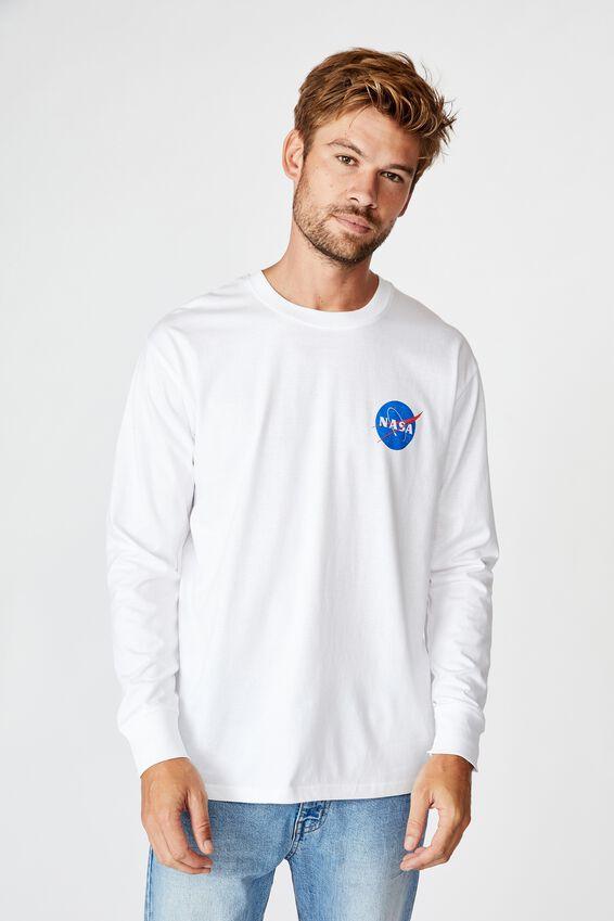 Tbar Collab Ls Tee, LCN NAS WHITE/NASA - MEATBALL LOGO