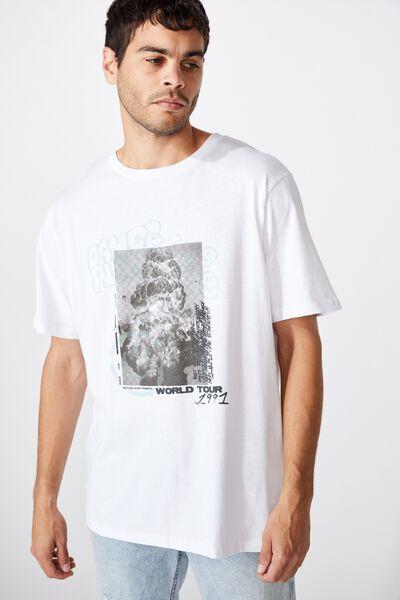 Tbar Art T-Shirt, SK8 WHITE/DANCE PLANET