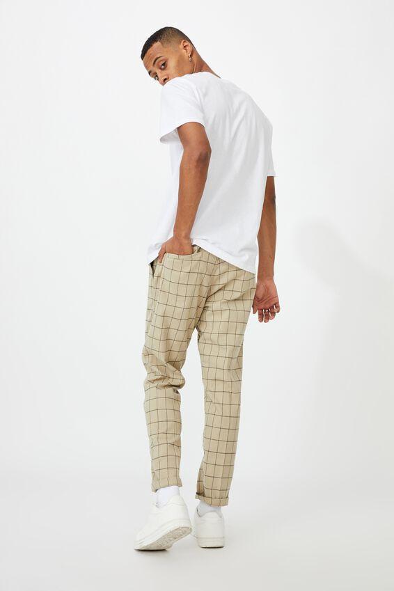 Oxford Trouser, BEIGE WINDOW CHECK
