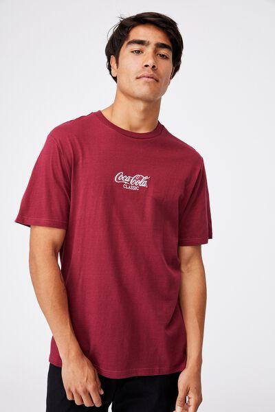 Tbar Collab Pop Culture T-Shirt, LCN CC ROSEWOOD/COCA COLA - CLASSIC