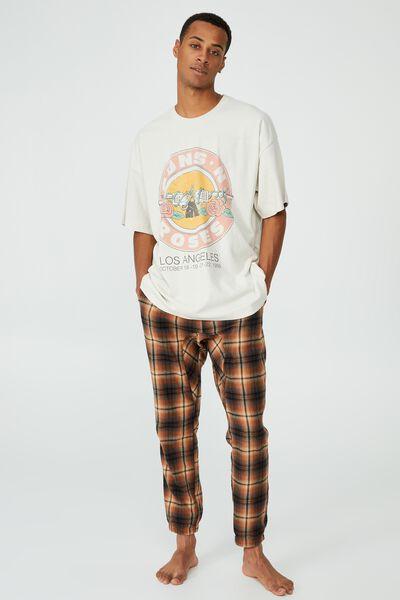 Oversized Vintage T-Shirt, LCN BRA IVORY/GUNS N ROSES - LOS ANGELES