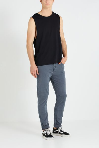 Tapered Leg Jean, GUTTER GREY