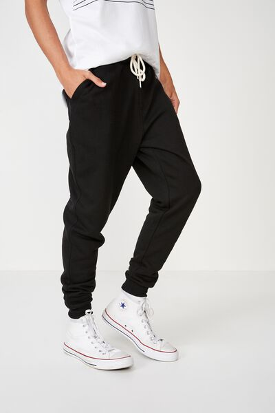 Trippy Slim Trackie, PEACHED BLACK